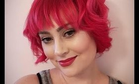 Makeup Over Tutorial Inspired by Rockabilly Pinup & Anime + NEW Hairrr