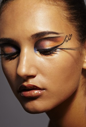 eyeliner, creative, avant garde