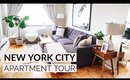 NEW YORK CITY APARTMENT TOUR | Living Room & Kitchen