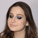 Blue/Gunmetal smokey eye.