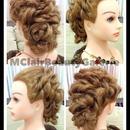 Messy Modern Curls Bridal Updo (look 1)