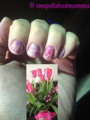 I loved these flowers and just couldn't help not stamping something similar