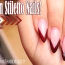 Stiletto Chevron Nails!