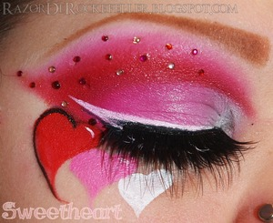 A Valentine's Day inspired look.