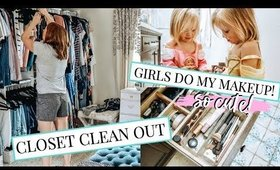 CLOSET AND MAKEUP DECLUTTER!! TIPS ON GETTING RID OF THINGS!   Kendra Atkins