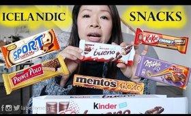Chinese Girl Tries Icelandic Snacks MUKBANG 먹방 | MsLaBelleMel