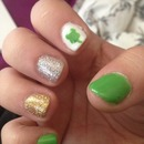 nail with a clover st pattys