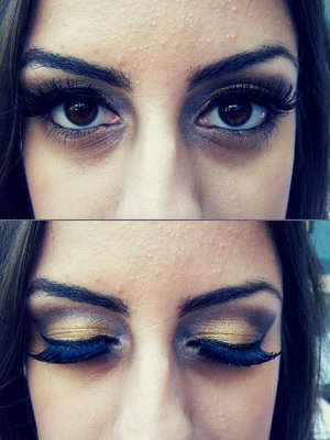 One of the models for RJFS with my gold smokey eye look! All MAC products on the eyes!