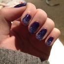 Purple Gradient Glitter Nails