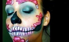 Halloween Series 2017: Floral Skull Makeup Tutorial