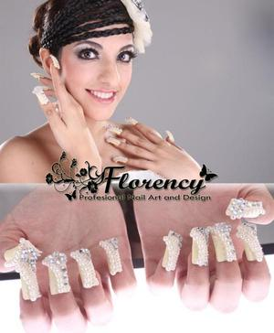 Glamour 3D nail art for fashion wedding or pre-wedding