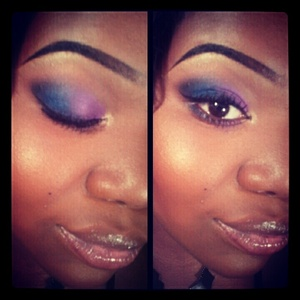 purple and blue eyeshadow