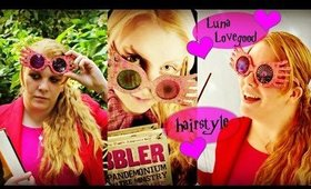 Luna Lovegood Halloween Heatless Hairstyle