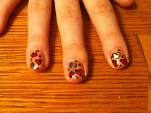 Just some valentine's nail art I did for brother' girlfriend.