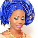 Bridal makeup and headgear