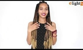 xpression ombre braiding hair demo