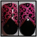 Pink & Black Leopard