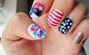4th of July Nail Tutorial: Ombre, Stripes & Starbursts