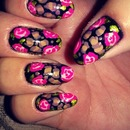 roses and leopard print
