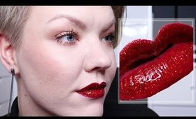 Holiday Glam Glitter Lips makeup tutorial