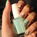 Leopard Mint Nails