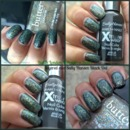 One coat of Butter London Tart With A Heart layered over One coat of Sally Hansen Black Out