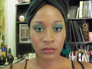Go green with a bold lip!