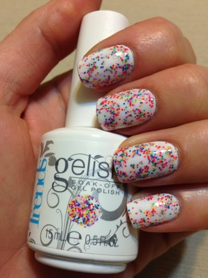 Gel nail polish. For info please visit my blog.