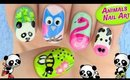 5 Cute Animals Inspired Nail Art designs