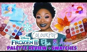 REVIEW: ColourPop Disney Frozen II Elsa & Anna Palette + Swatches