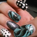 Water marble dots