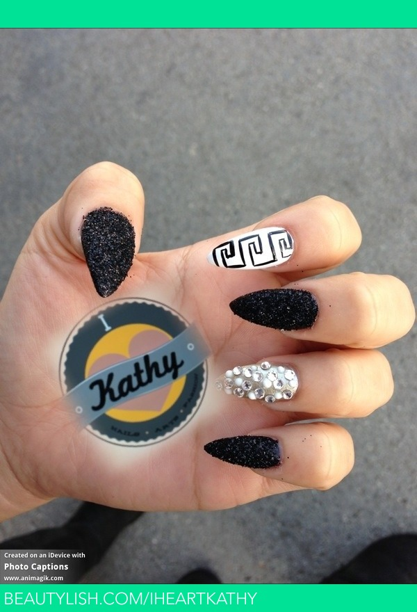 glitter stiletto nails   Kathy B.\'s (Iheartkathy) Photo   Beautylish
