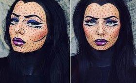 Maleficent Style Comic / Pop Art Halloween Makeup   Chloe Viv