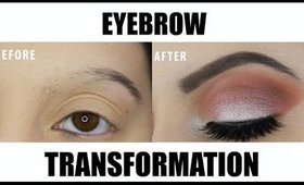 2 MINUTE EYEBROW TRANSFORMATION: Eyebrow Tutorial for Trichotillomania/hair loss
