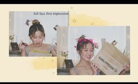 full face of k-beauty first impressions! / big earlypicker unboxing