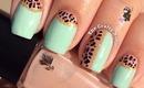 Half Moon Leopard Nails by The Crafty Ninja