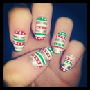 Christmas jumper nails.