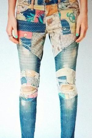 Patch skinny jeans! <3