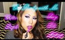 Get Ready With Me:  Pole Show Makeup - Purple Glitter Eyes and Vampy Lips