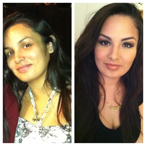 My sisters not a fan of make up but glad she let me practice on her (: beautiful isnt she?.