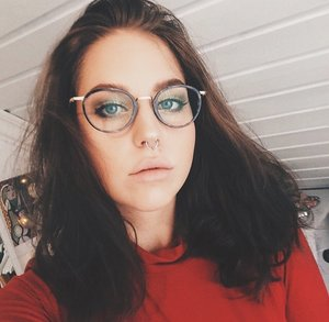Just got my new glasses, feels kind of weird and i look so strange, haha