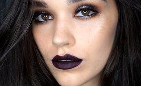 Dark eyes / Dark lips makeup tutorial