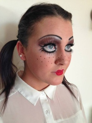 Just did a doll makeup look for halloween