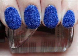 See more swatches & come read about my experience plus application tips here: http://www.swatchandlearn.com/nail-art-blue-flocked-nails-plus-my-experience-application-tips/