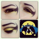 batman comics makeup look
