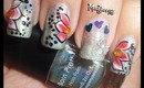 One Stroke Flowery Holo Nails! - Bornprettystore Holographic Nail Contest