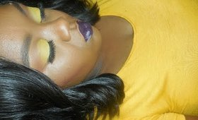 Yellow Makeup inspired by @cardib Bodak Yellow Songs-@glamhousetv