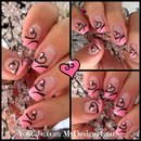 Easy Valentine's Day Nail Art | Cute Heart French Tip Nails