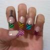 Multi Colour French Manicure