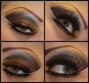 Some Gold and Rust colored makeup I did for myself.